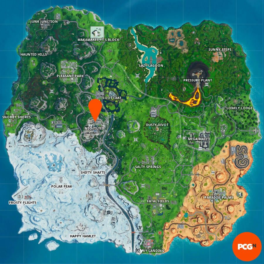 fortnite map of fortbyte 100