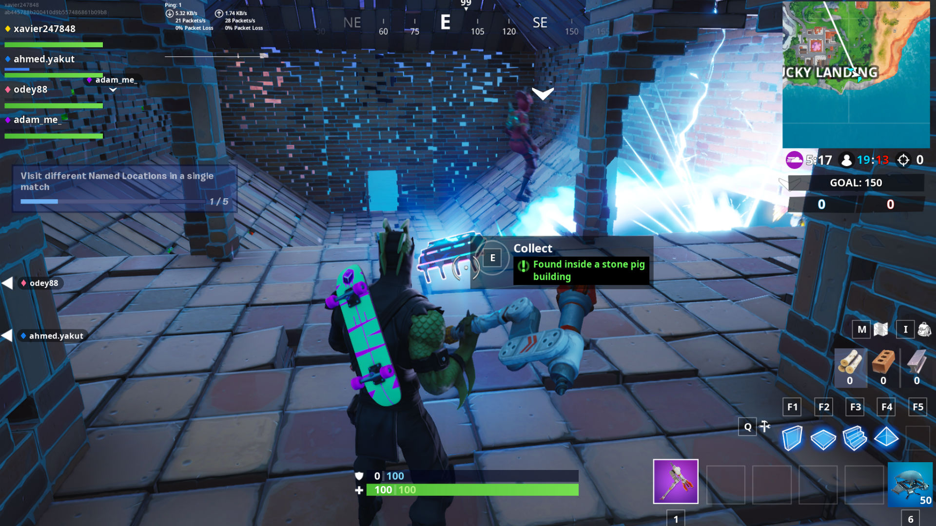 Where To Find Fortbyte 69 Found Inside A Stone Pig: Fortnite Fortbyte 69: Stone Pig Building Location