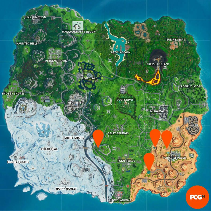 fortnite party balloons map