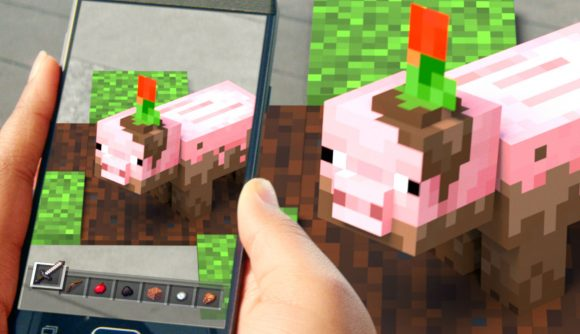 Minecraft Earth, the augmented reality game of Minecraft Closed Beta