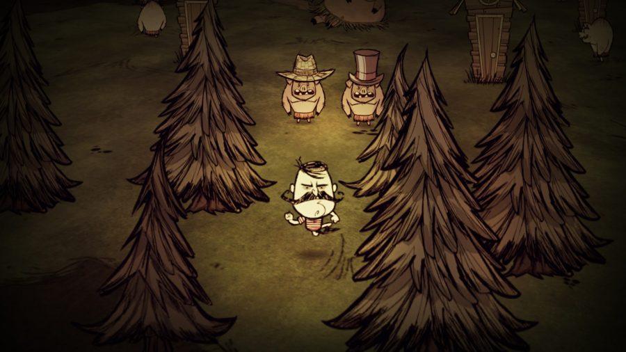 Wolfgang dans l'un des meilleurs jeux d'artisanat, Don't Starve