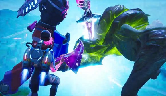 Fortnite Season 9 closes with an epic kaiju-mecha battle