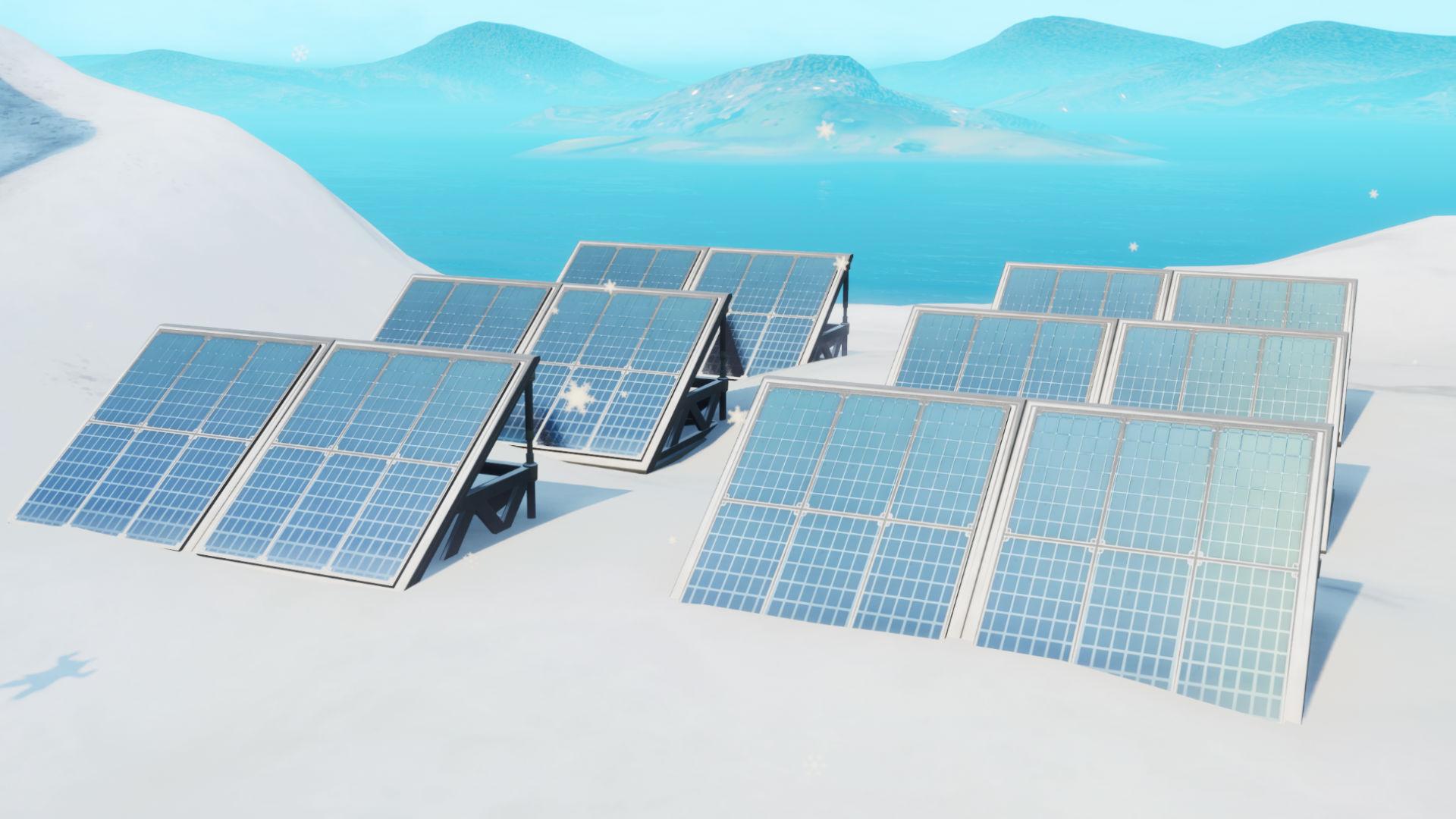 Google Solar Map >> Fortnite solar arrays: where to visit snow, desert, and ...