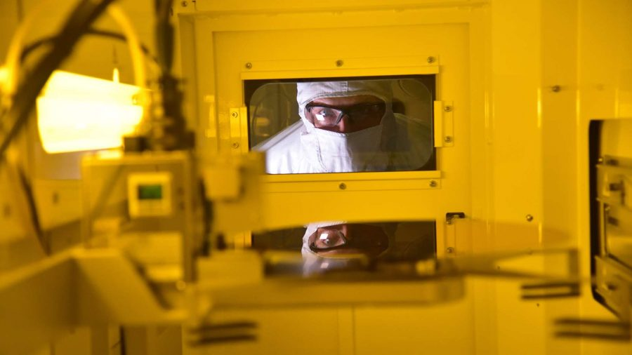Intel wafer production
