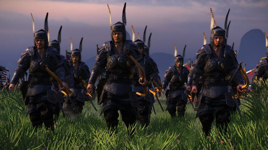 A group of stylish shooters marching forward
