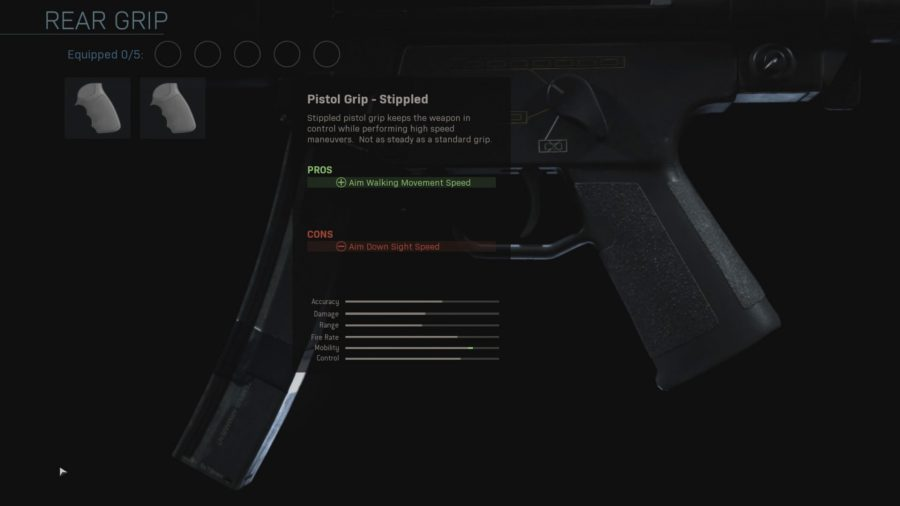 cod modern warfare 2019 rear grip gunsmith