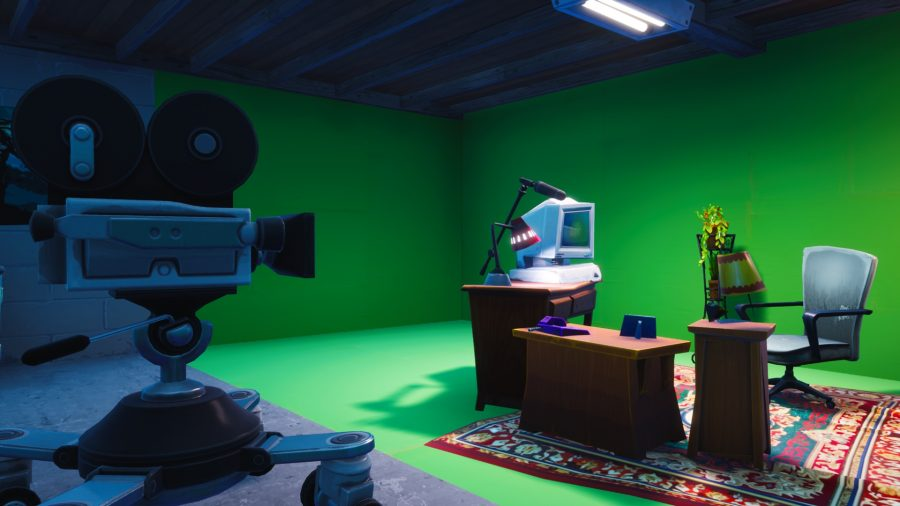 Fortnite: search between basement film camera, snowy stone
