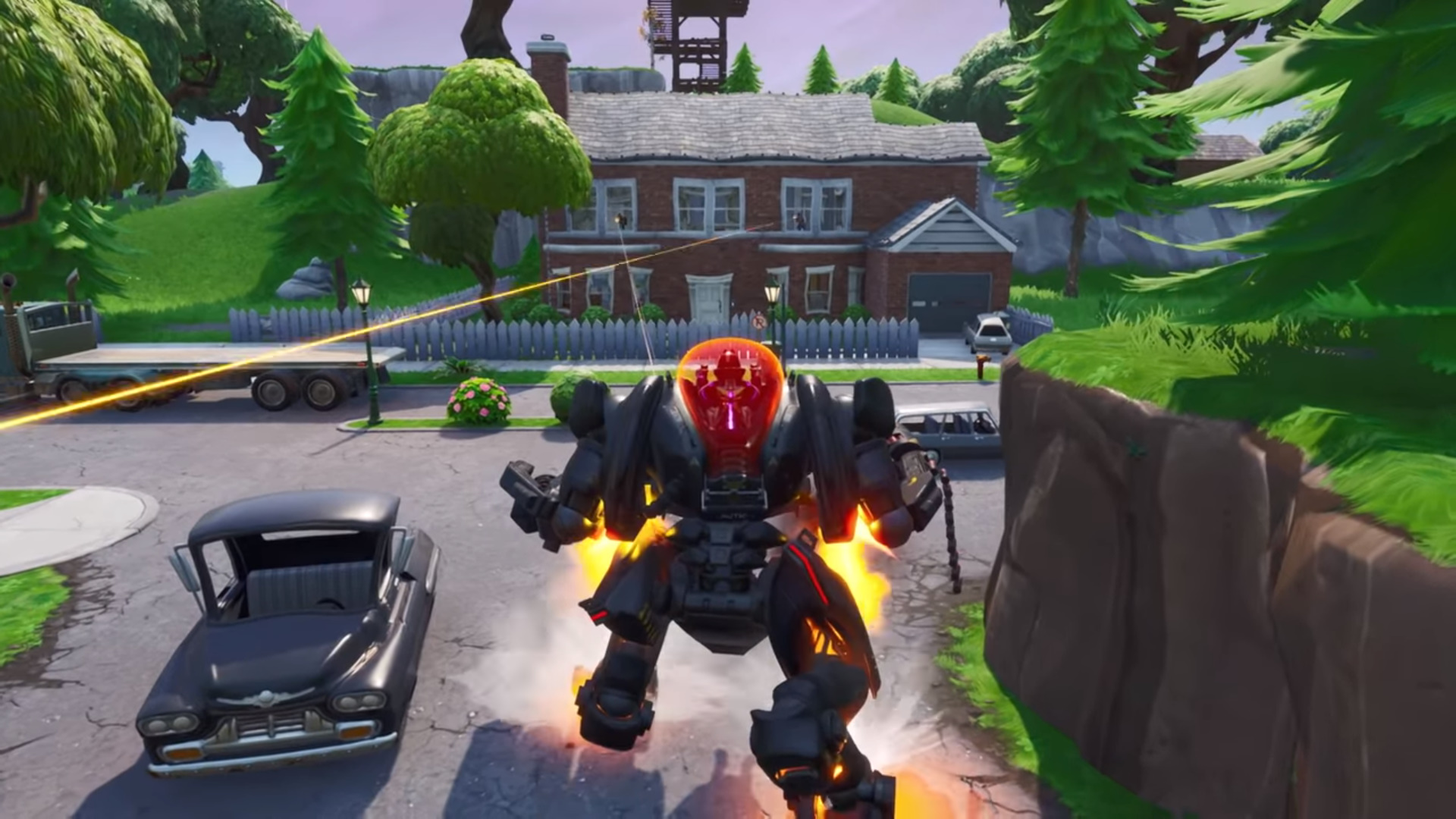 "Epic wants Fortnite to feel like ""anyone can win,"" so the mech will remain overpowered"