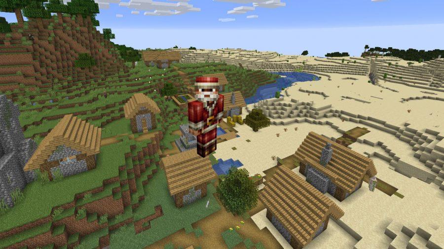 Minecraft skins Santa HD