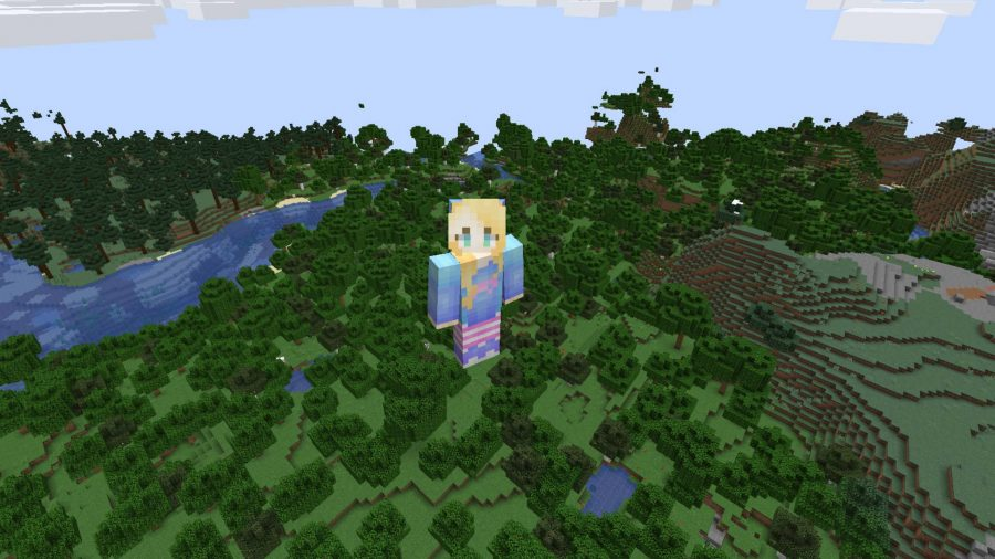 Minecraft skin Bright Girl