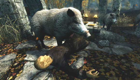 This Skyrim mod adds 30-50 feral hogs to Tamriel | PCGamesN