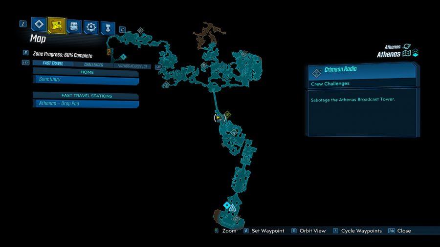Borderlands 3 Crimson Radio Station Locations Pcgamesn