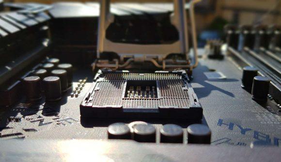Empty motherboard socket
