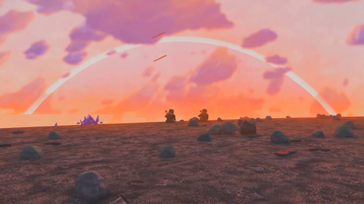 Here's the intro to Dragon Ball Z in No Man's Sky