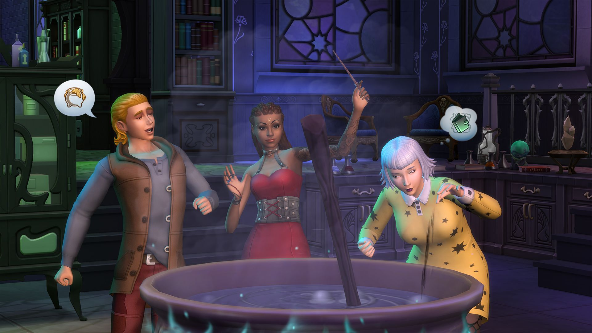 The Sims 4: Realm of Magic lets you brew smelly potions and skip the tedium of life