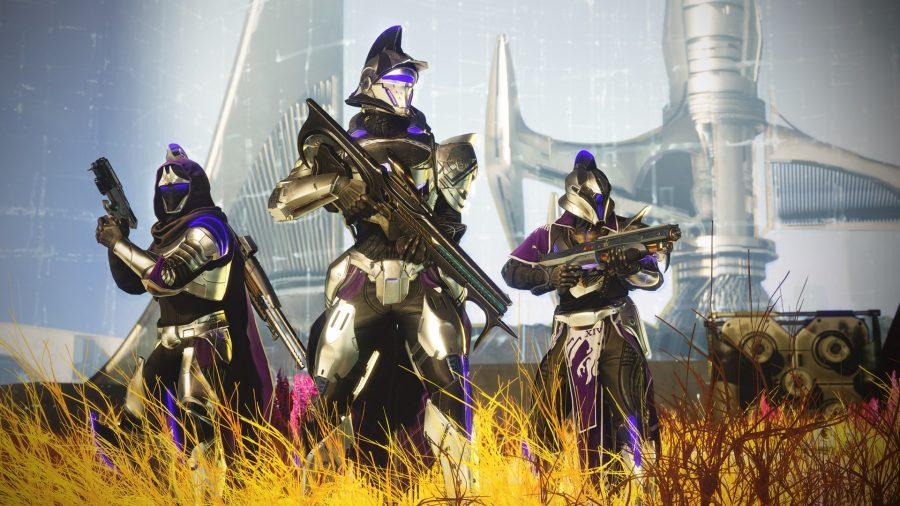 Some Destiny 2 guardians in Season of Dawn gear