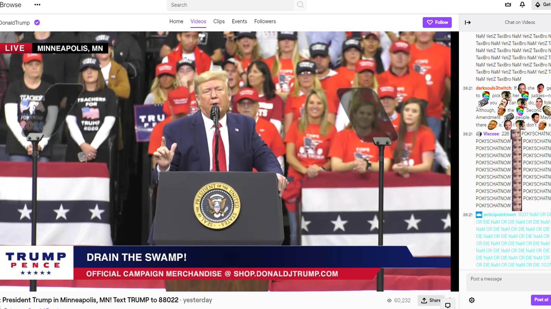 Donald Trump is on Twitch because 2019 just refuses to stop