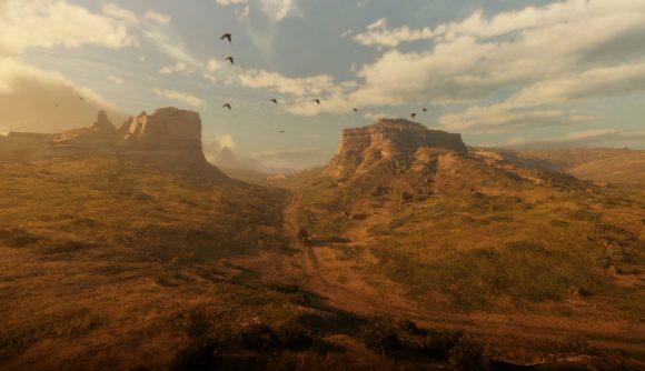 A rolling desert landscape