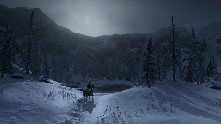 الرحلات عبر الثلج على ظهور الخيل