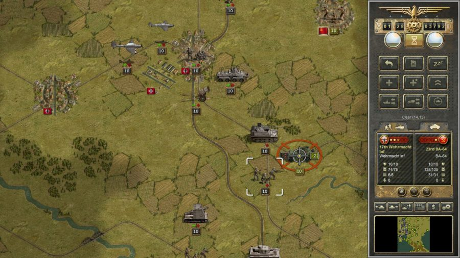 A conflict taking place in one of the best tank games, Panzer Corps