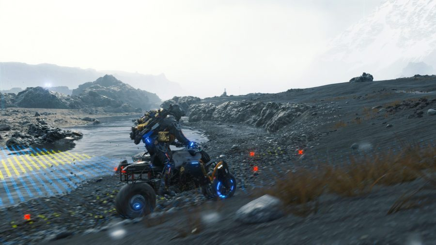 A motorbike in Death Stranding