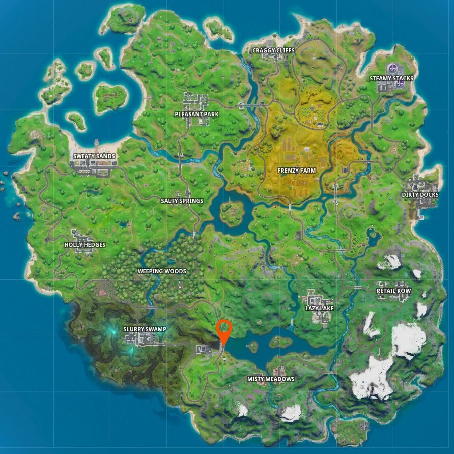 Fortnite letter e map
