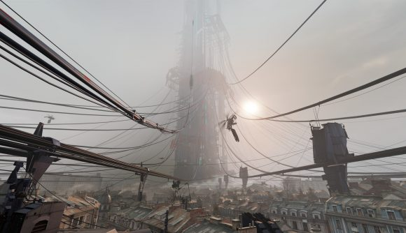 An eerie tower from Half-Life Alyx