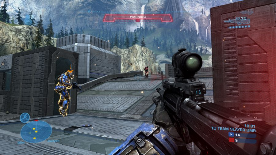 Taking fire in Halo: Reach's Team Slayer mode