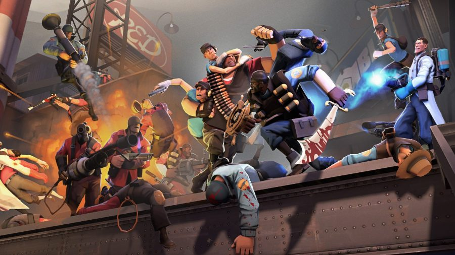 Two opposing teams of notorious characters battle it out in one of the best free Steam games, Team Fortress 2
