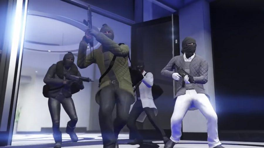 players breaking into GTA Diamond Casino