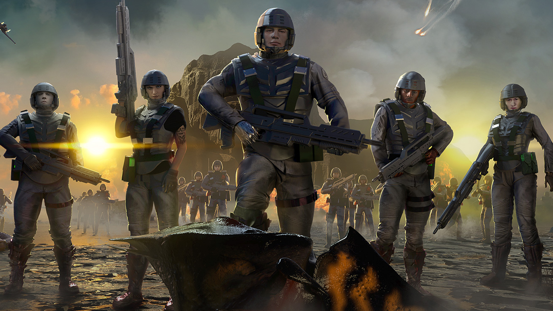 Best Rts 2020.Starship Troopers Gets A Survival Rts In 2020 Pcgamesn