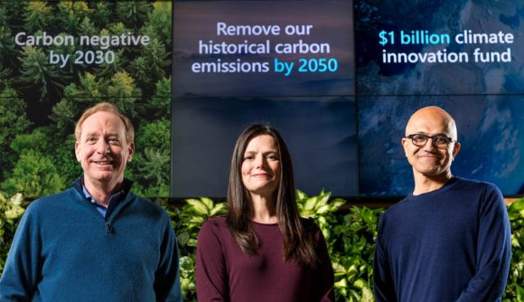 Microsoft climate change promise