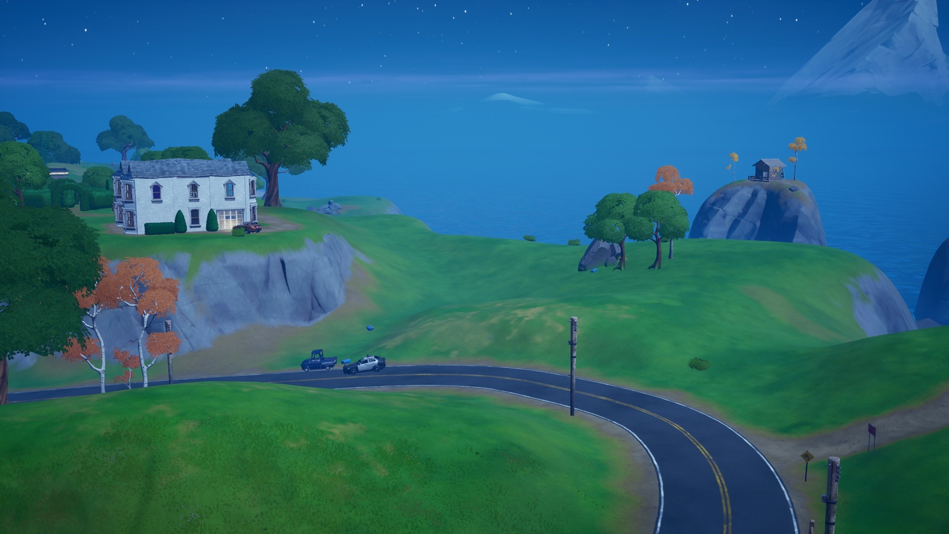 Fortnite hidden gnome: where to search between Fancy View, a wooden shack, and a big house