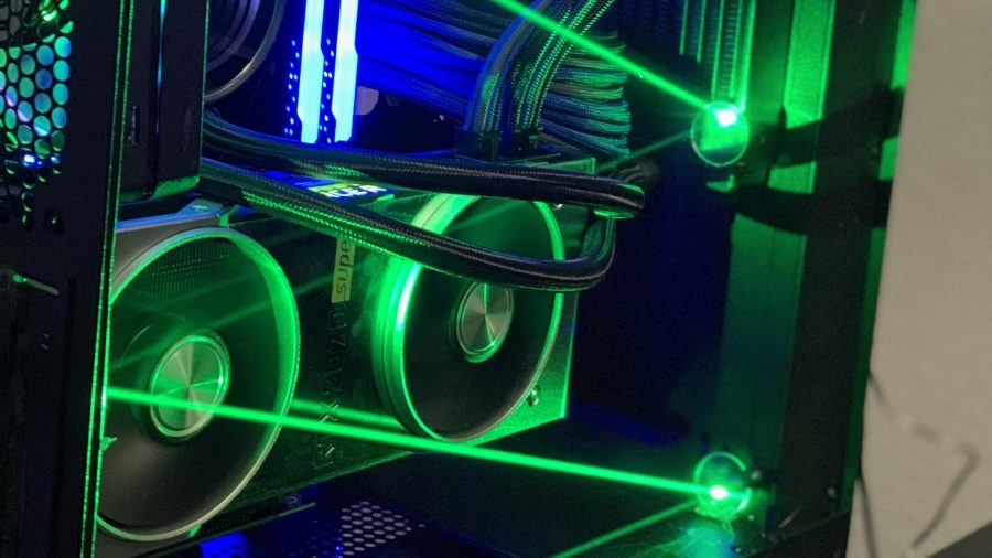 Лазерный луч игрового ПК