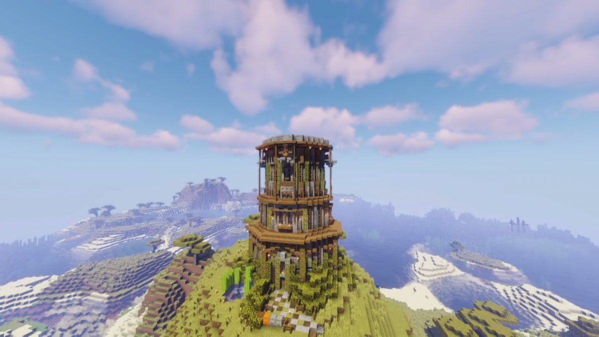 Minecraft Tower Designs Reach For The Stars With Our Guide To The Best Tower Builds In Minecraft Pcgamesn