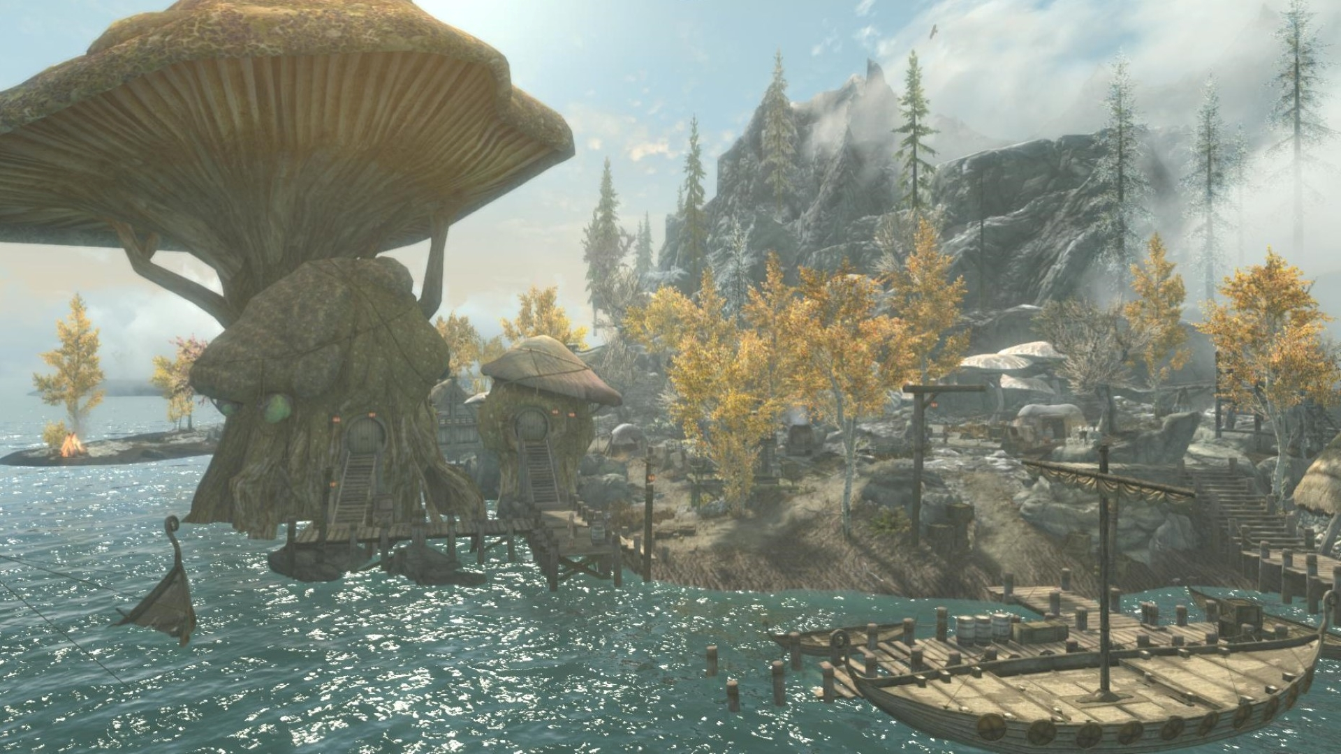 This Skyrim mod adds a new land inspired by The Witcher 3