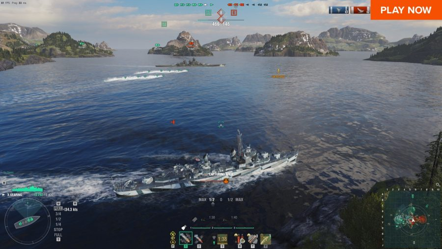 World of Warships, one of the best free PC games
