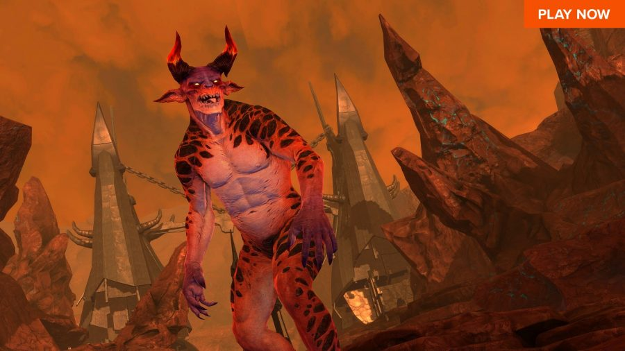 A demonic beast challenges you in RIFT, one of the best free Steam games