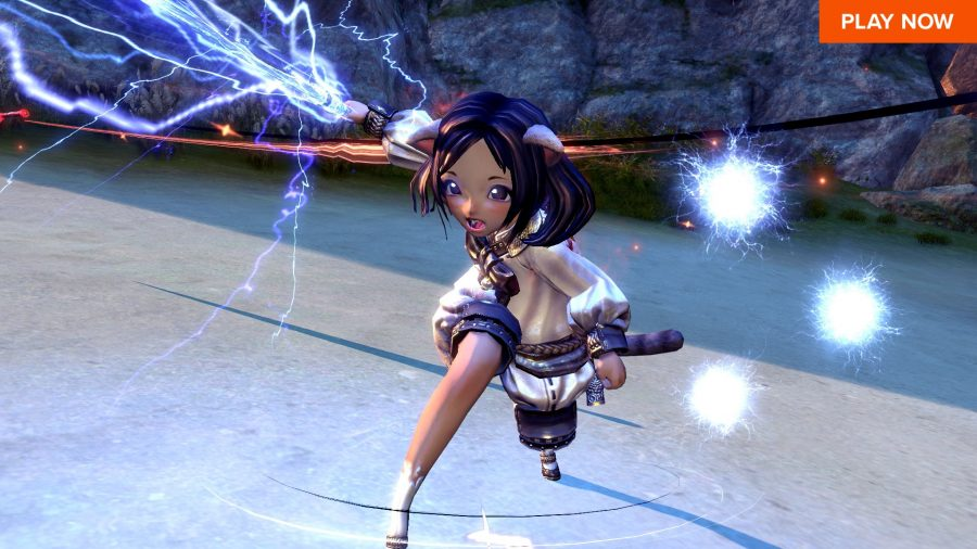 A blade dancer in Blade & Soul, one of the best free PC games