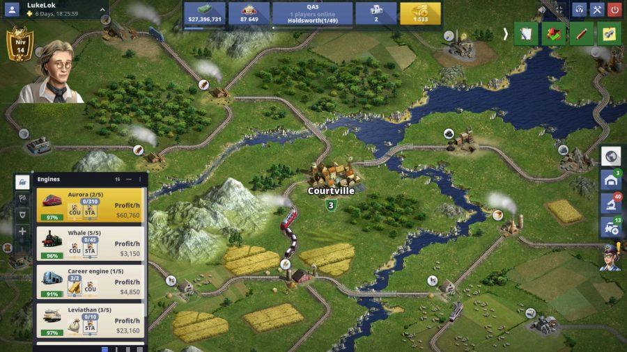 Rail Nation gameplay