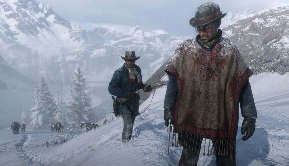 Snowy hills in Red Dead Redemption 2