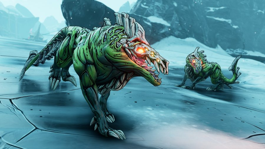 Some Borderlands 3 beasts on Xylourgos