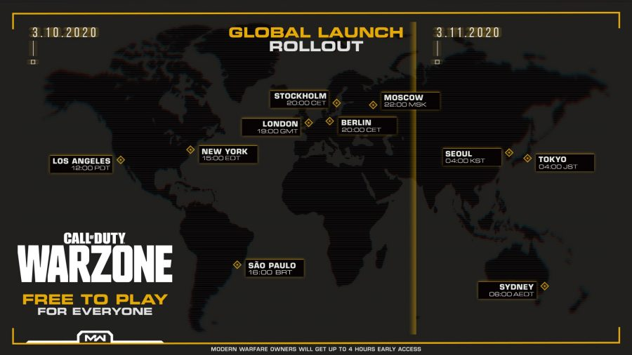 The download times for CoD Warzone
