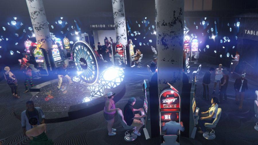 GTA Online players in the Diamond Casino