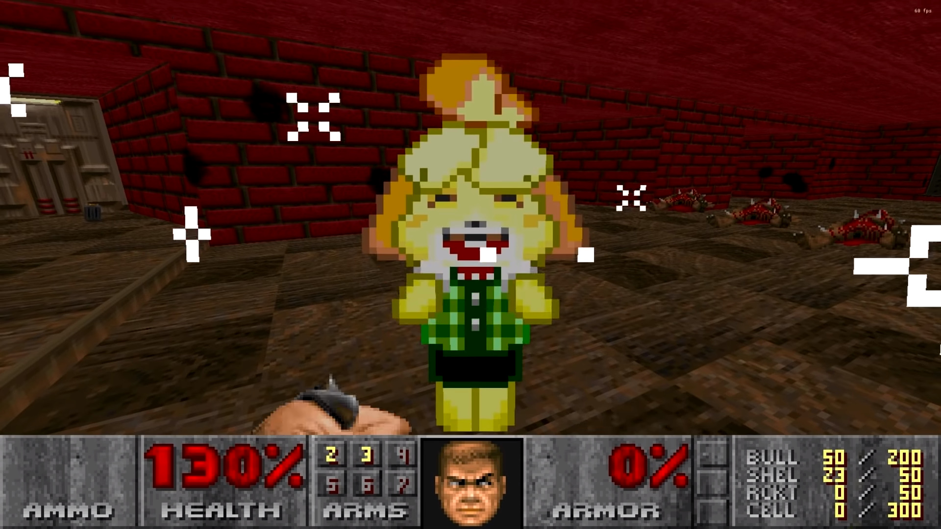 Animal Crossing S Isabelle Joins The Slayer In This Doom 2 Mod