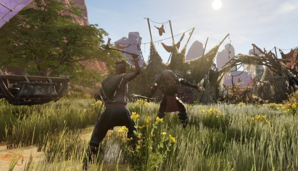 Two players fighting in Last Oasis