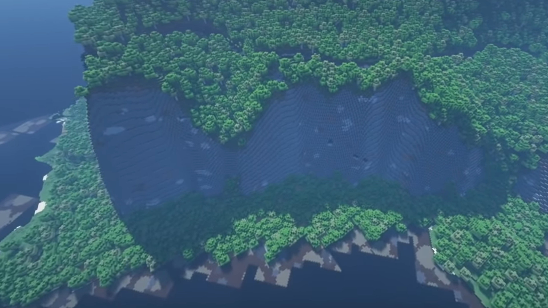 This is the entire Earth in Minecraft, at 100:100 scale – now modders
