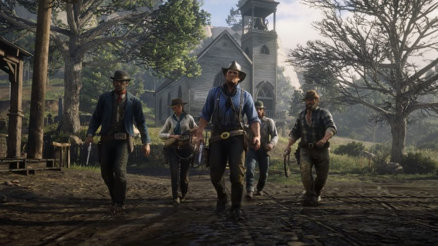 A gang in Red Dead Redemption 2