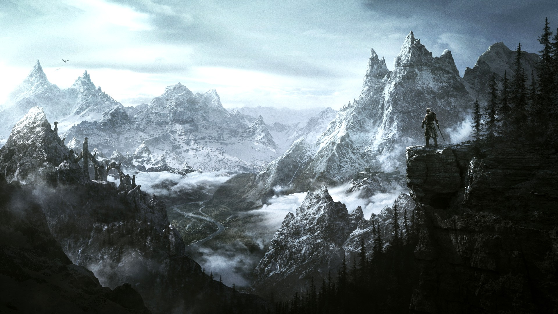 Valheim player recreates Skyrim's High Hrothgar in all its Greybeardy glory