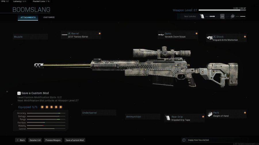 Лучшее снаряжение Warzone - топор-50